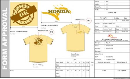 T-Shirt Cheer Honda