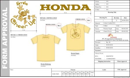 T-Shirt Anak Cheer Honda